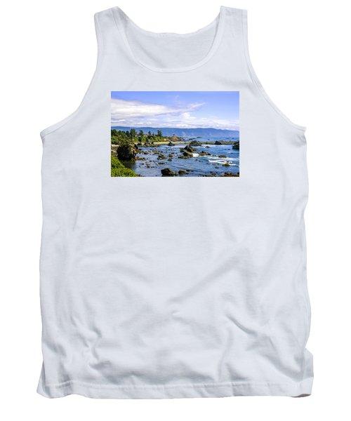 Rocky California Coastline Tank Top