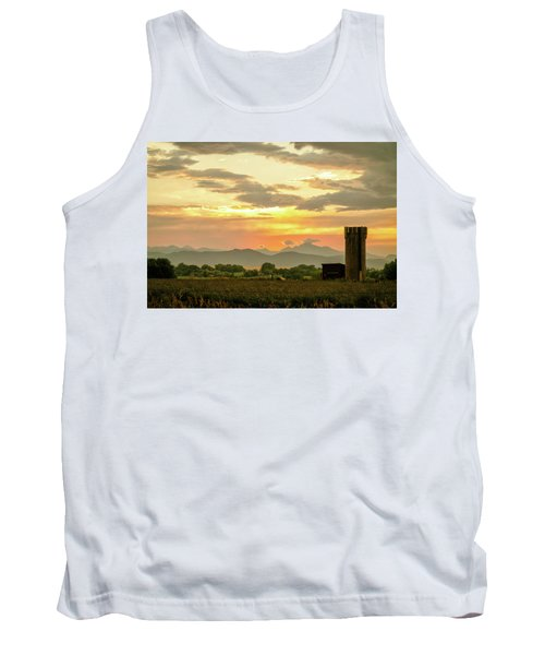 Tank Top featuring the photograph Rocky Mountain Front Range Country Landscape by James BO Insogna