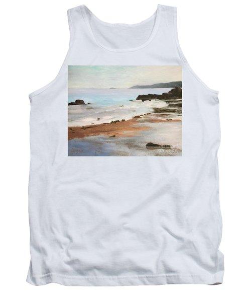 Rocky Neck Beach At Sunset Tank Top