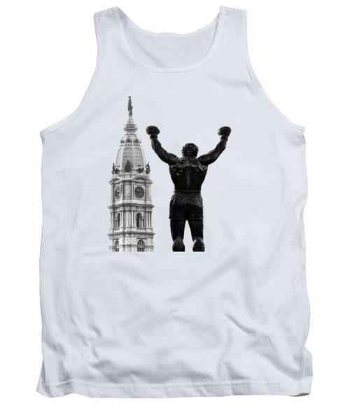 Tank Top featuring the photograph Rocky - Philly's Champ by Bill Cannon