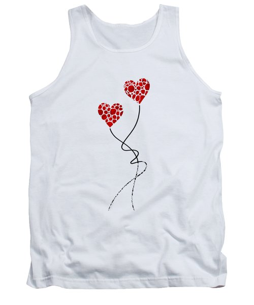 Tank Top featuring the painting Romantic Art - You Are The One - Sharon Cummings by Sharon Cummings