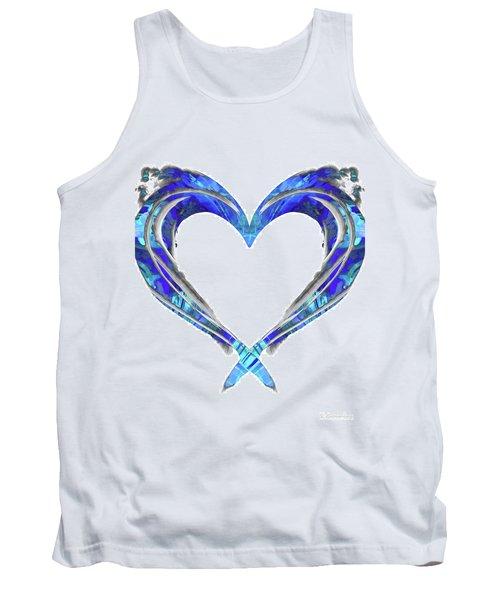 Romantic Heart Art - Big Blue Love - Sharon Cummings Tank Top