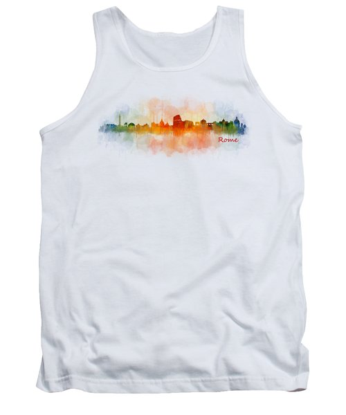 Rome City Skyline Hq V03 Tank Top by HQ Photo
