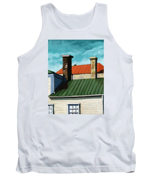 Rooftops City Houses Painting Tank Top