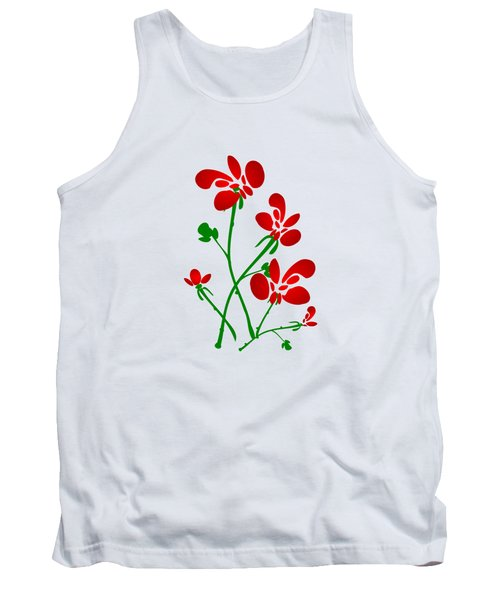 Rooster Flowers Tank Top