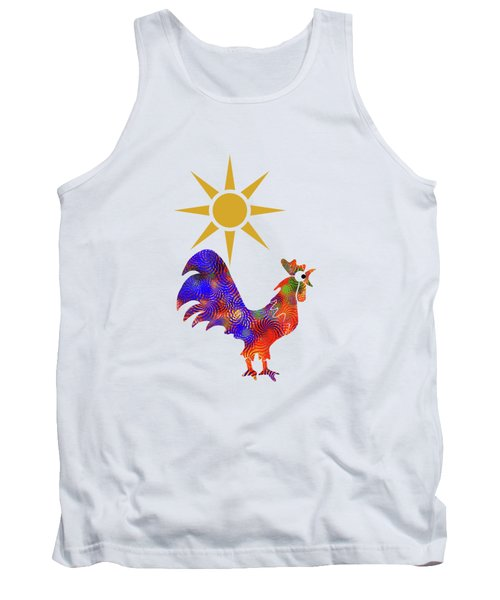 Rooster Pattern Tank Top