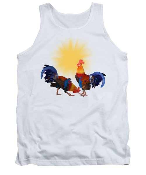 Roosters And Sun Tank Top