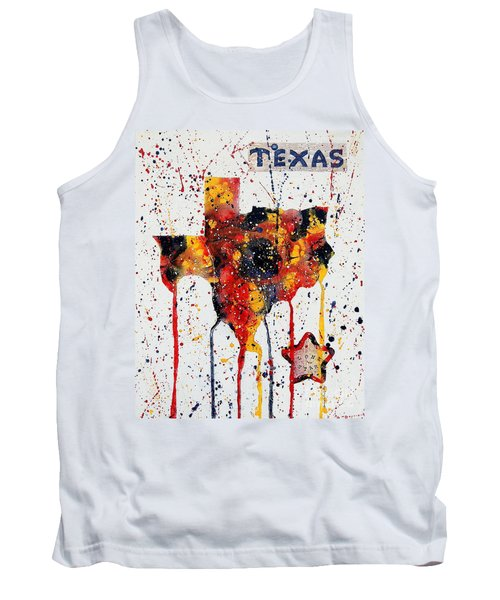 Tank Top featuring the painting Rooted In Texas by Tamyra Crossley