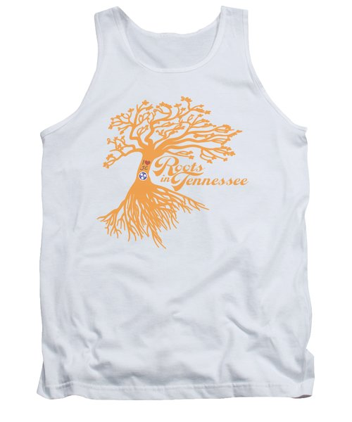 Tank Top featuring the photograph Roots In Tn Orange by Heather Applegate