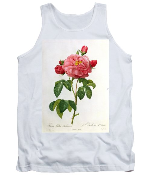 Rosa Gallica Aurelianensis Tank Top