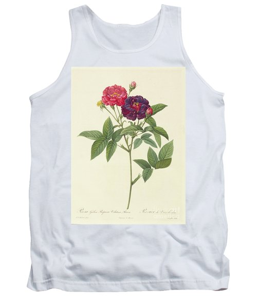 Rosa Gallica Purpurea Velutina Tank Top