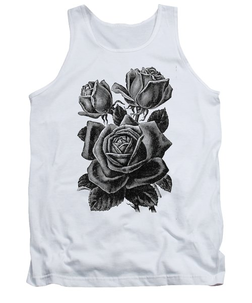 Rose Black Tank Top