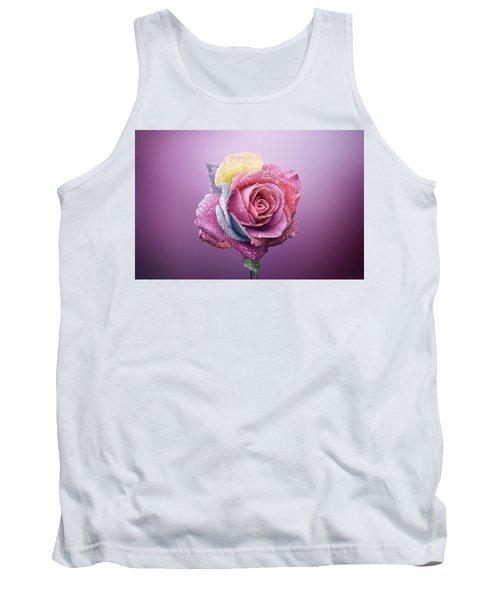 Rose Colorfull Tank Top by Bess Hamiti