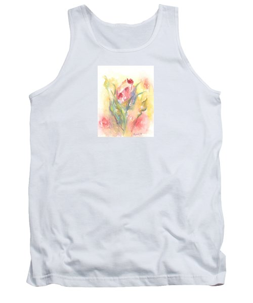 Tank Top featuring the painting Rose Garden One by Elizabeth Lock
