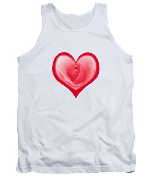 Rose Heart T-shirt And Print By Kaye Menner Tank Top