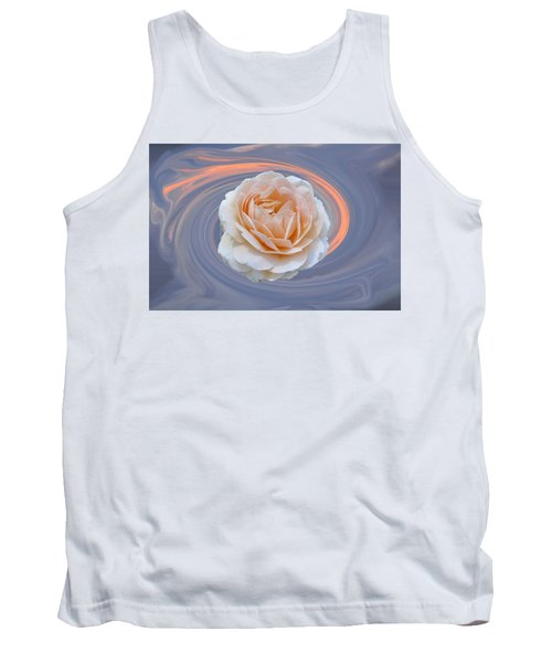 Rose In Swirl Tank Top by Helen Haw