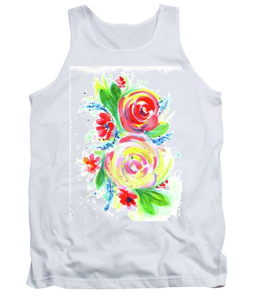 Rose Red Rose Yellow  Tank Top