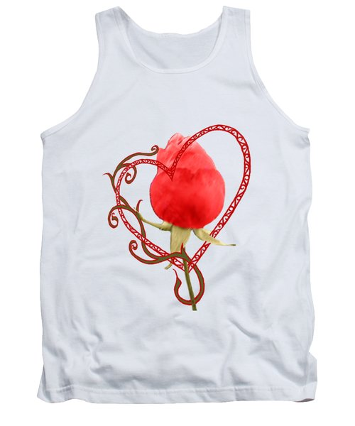Rose Through My Heart Tank Top