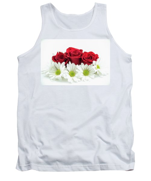 Roses And Daisies Tank Top