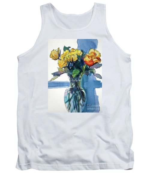 Roses In Vase Still Life I Tank Top by Kathy Braud