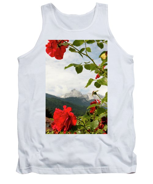 Tank Top featuring the photograph Roses Of The Zugspitze by KG Thienemann