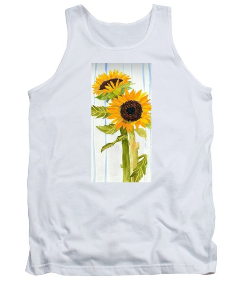 Rosezella's Sunflowers II Tank Top by Anne Marie Brown