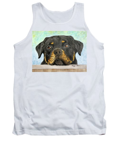 Rottweiler's Sweet Face 2 Tank Top by Megan Cohen