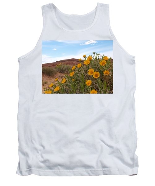 Tank Top featuring the photograph Rough Mulesear Flowers by Jenessa Rahn
