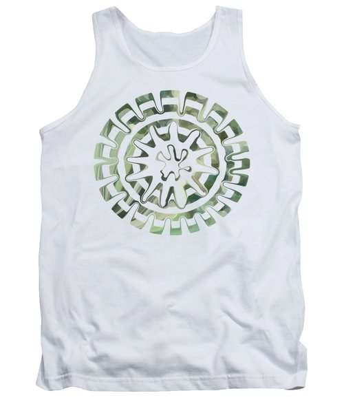 Round About Green Tank Top