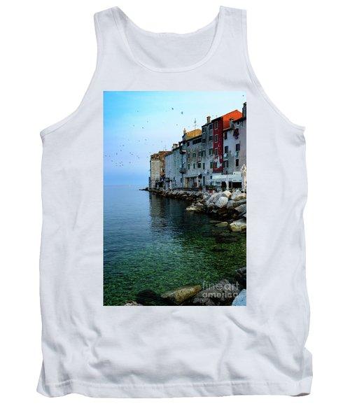Rovinj Venetian Buildings And Adriatic Sea, Istria, Croatia Tank Top