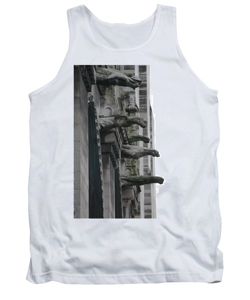 Tank Top featuring the photograph Row Of Gargoyles by Christopher Kirby
