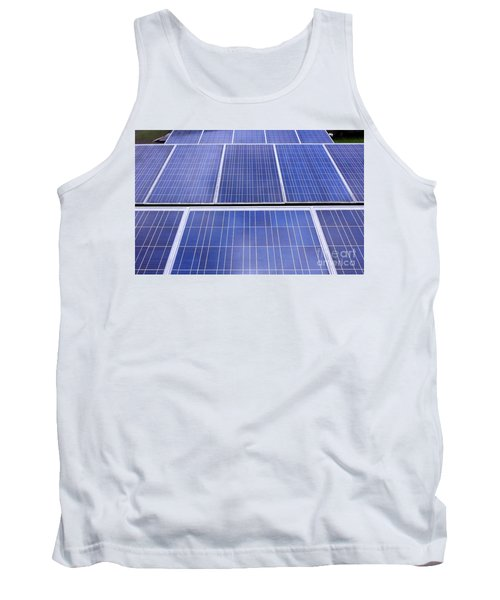 Tank Top featuring the photograph Rows Of Solar Panels by Yali Shi