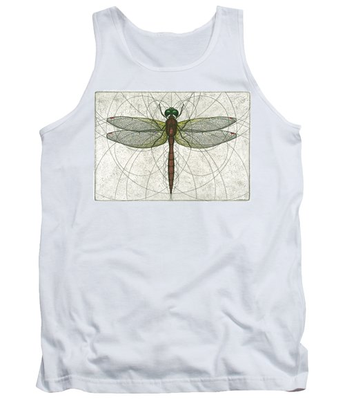 Ruby Meadowhawk Dragonfly Tank Top