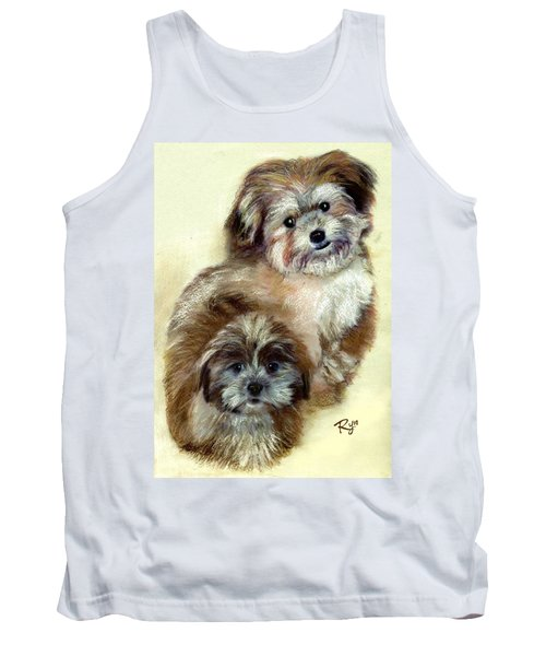Tank Top featuring the painting Ruby by Ryn Shell