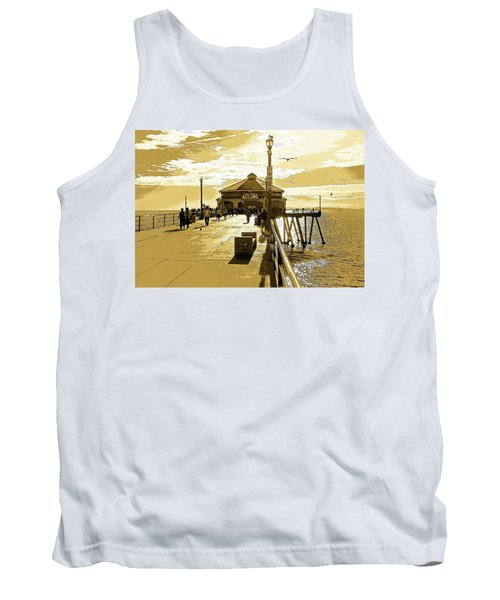 Tank Top featuring the photograph Ruby's At The Pier by Everette McMahan jr