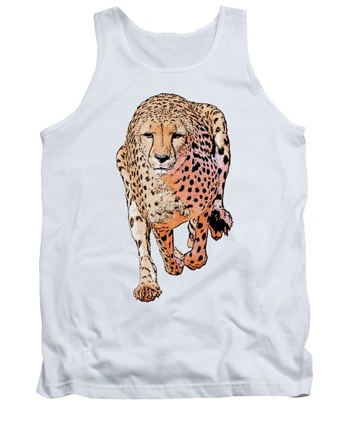 Running Cheetah Cartoonized #1 Tank Top