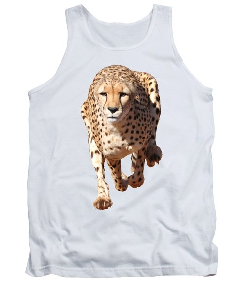 Running Cheetah, Transparent Background Tank Top