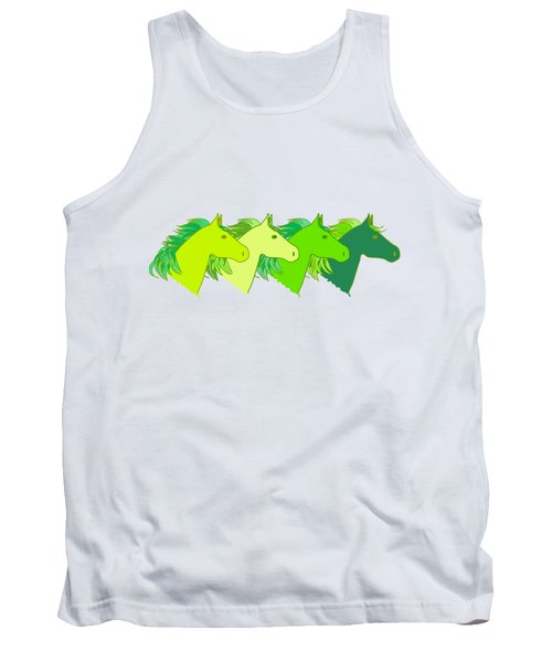 Running Horse Lime Tank Top by Alexsan