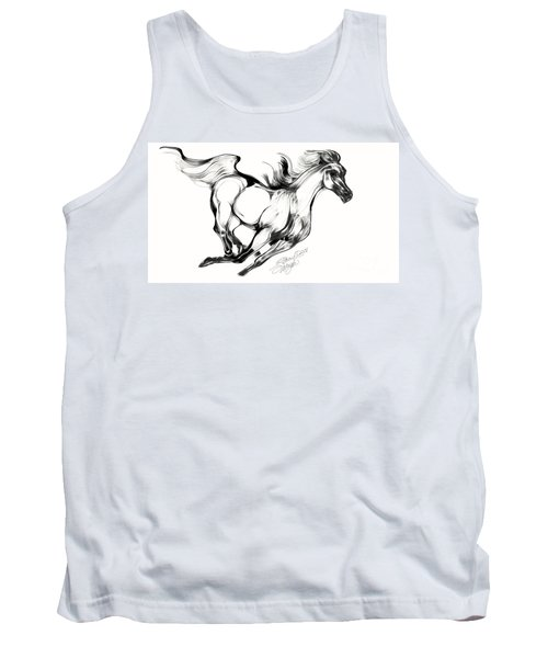 Night Running Horse Tank Top