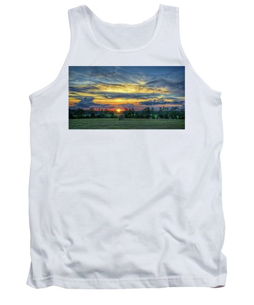 Tank Top featuring the photograph Rural Sunset by Lewis Mann