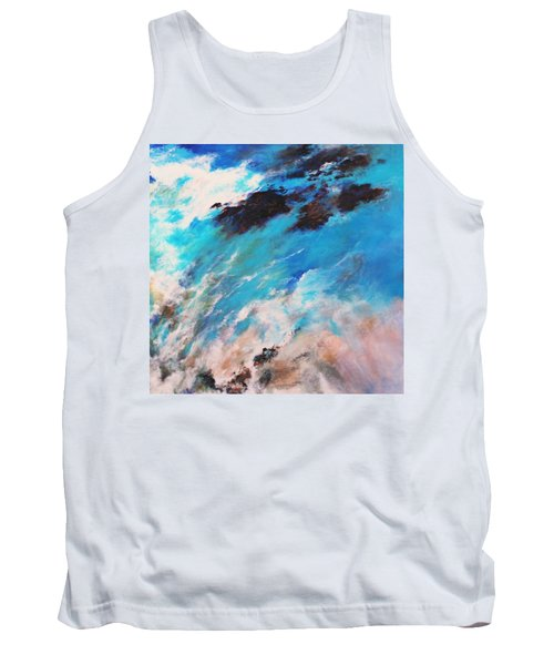 Tank Top featuring the painting Rushing Water by M Diane Bonaparte