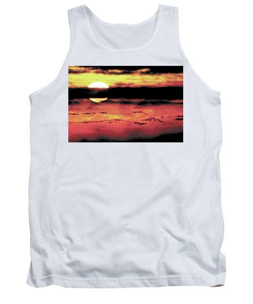 Russet Sunset Tank Top by Paula Ayers
