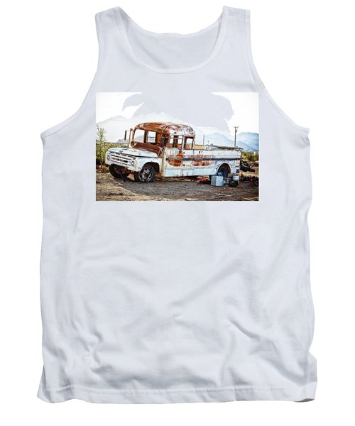 Rusted Abandoned Truck Tank Top