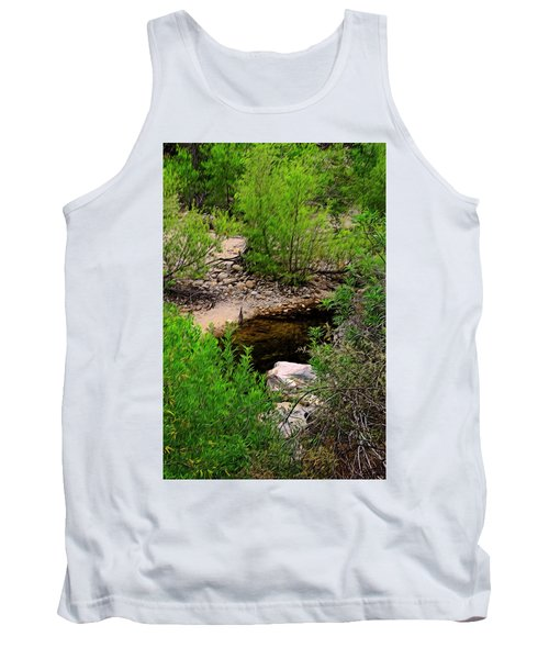 Tank Top featuring the photograph Sabino Canyon Op44 by Mark Myhaver