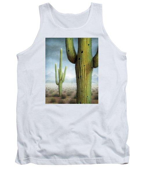 Saguaro Cactus Landscape Tank Top by James Larkin