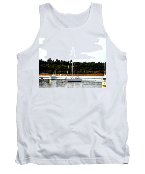 Sail Boat At Anchor  Tank Top