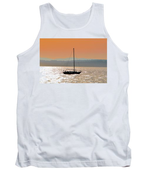 Sailboat With Bike Tank Top