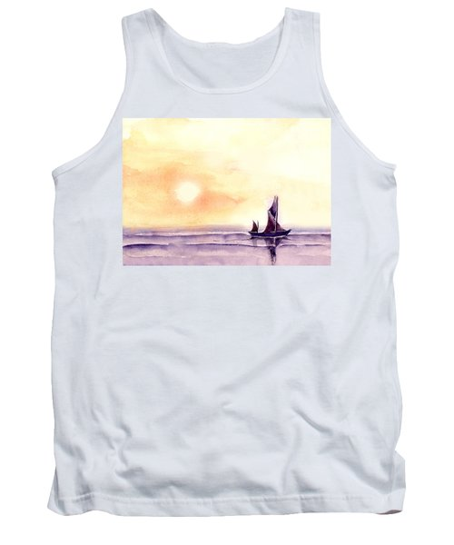 Tank Top featuring the painting Sailing by Anil Nene