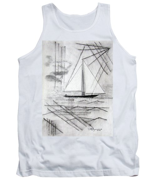 Sailing In The City Harbor Tank Top by J R Seymour