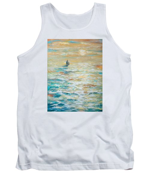 Sailing Into The Sunset Tank Top by Linda Olsen